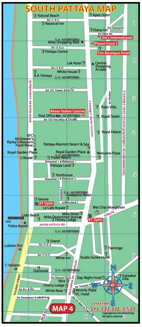 South Pattaya City Map
