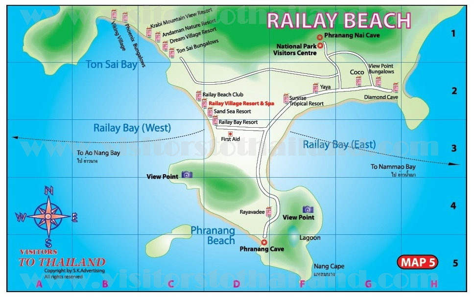 Ao Nang-Railay Map