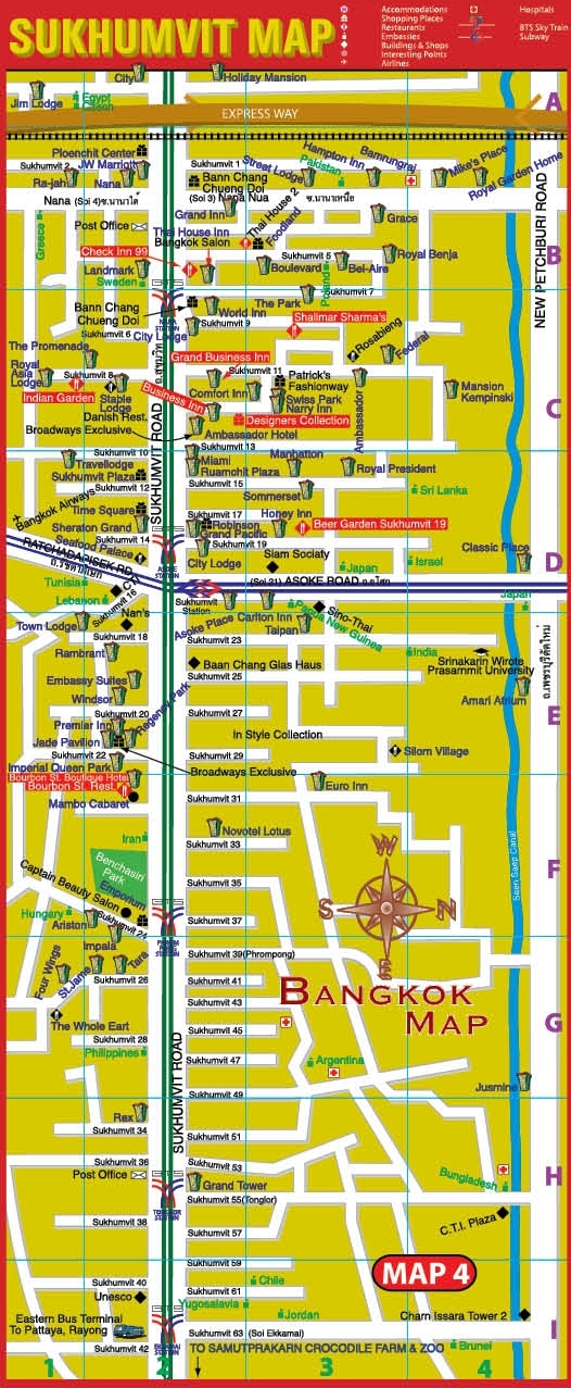 Sukhumvit Map, Click for enlarge