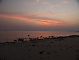 Klong muang Beach after sunset
