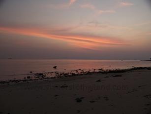Klong muang Beach after sunset