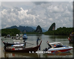 Long Tailed-Boat Service around Krabi Sea