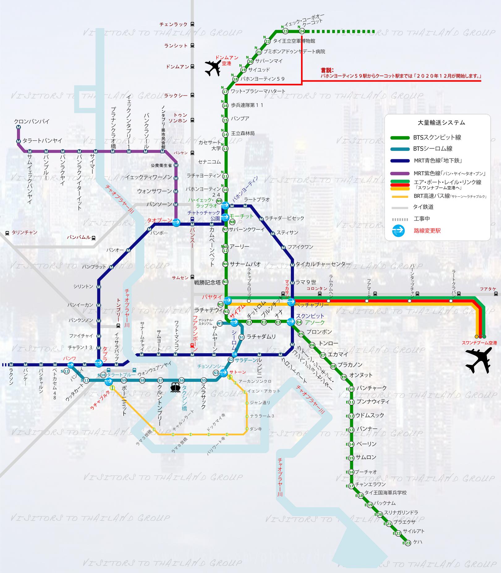 バンコクの大量輸送システム