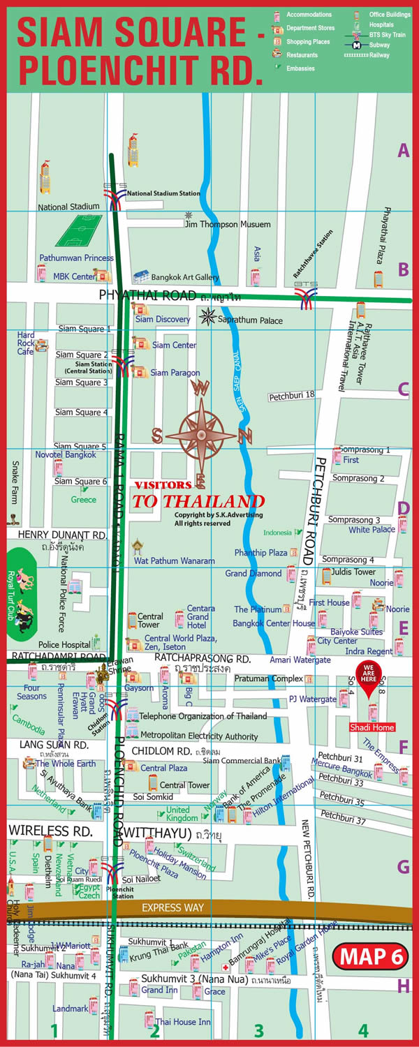 Siam-Pleonchit Road Map