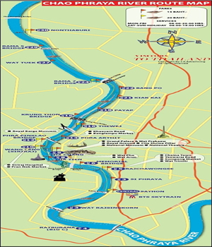 Chao Phraya River Route Map
