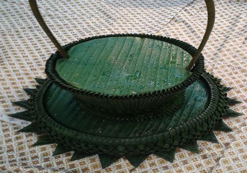 Banana leaf Basket-elborately Thai Hand-made
