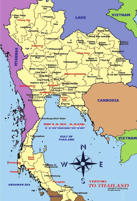 Tourist Maps – Thailand Tourist Map