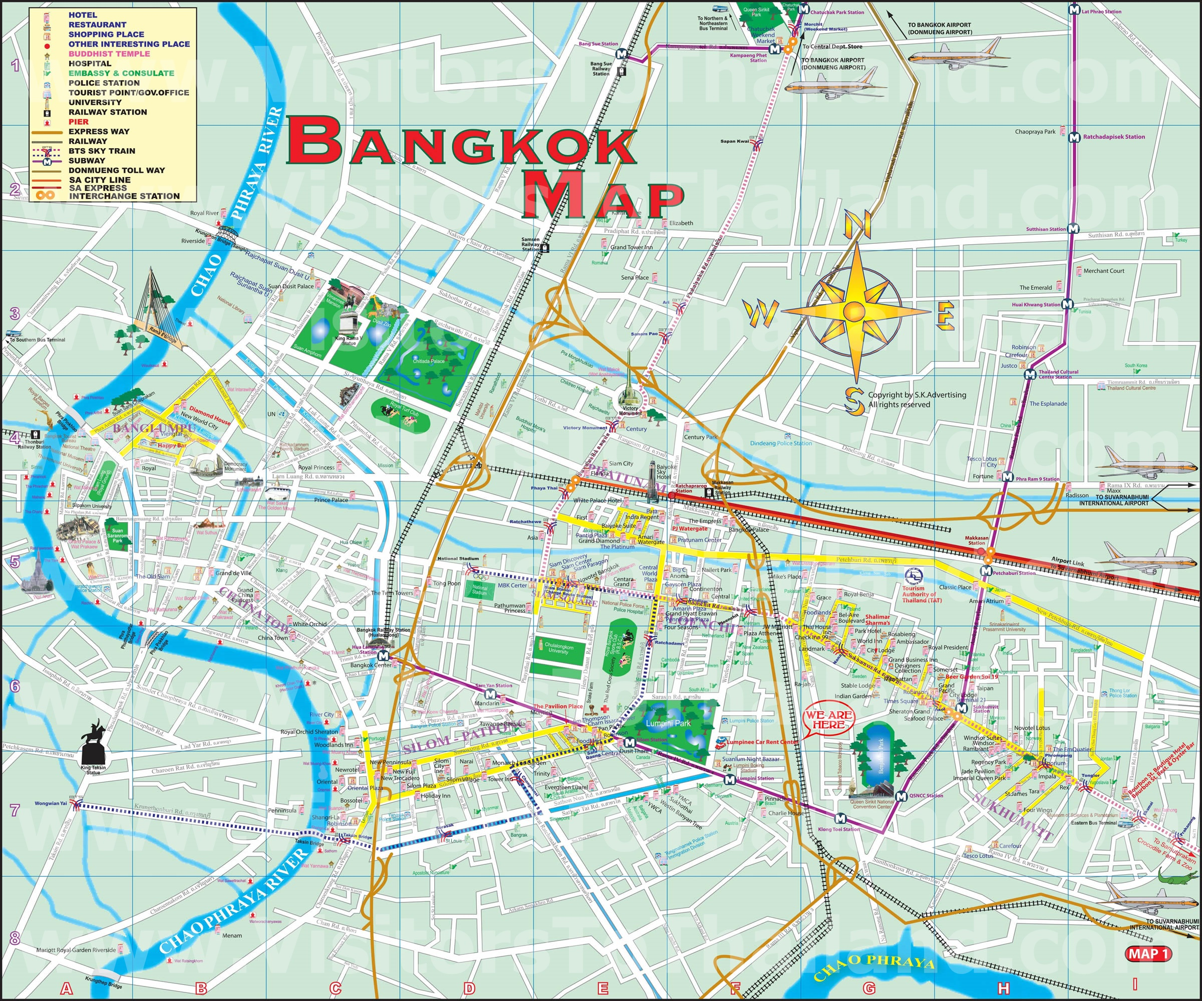 Bangkok Enlarge Map