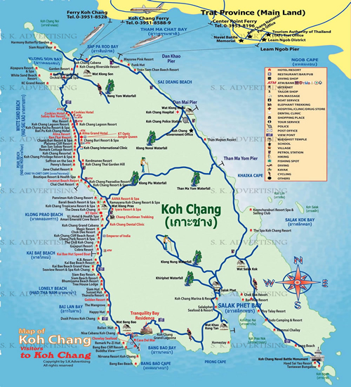 KohChang Map Shortcut