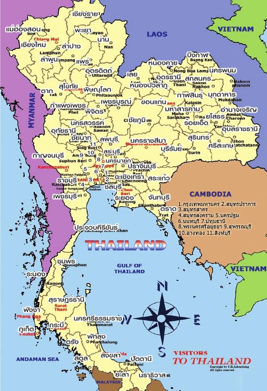 thai map thai version